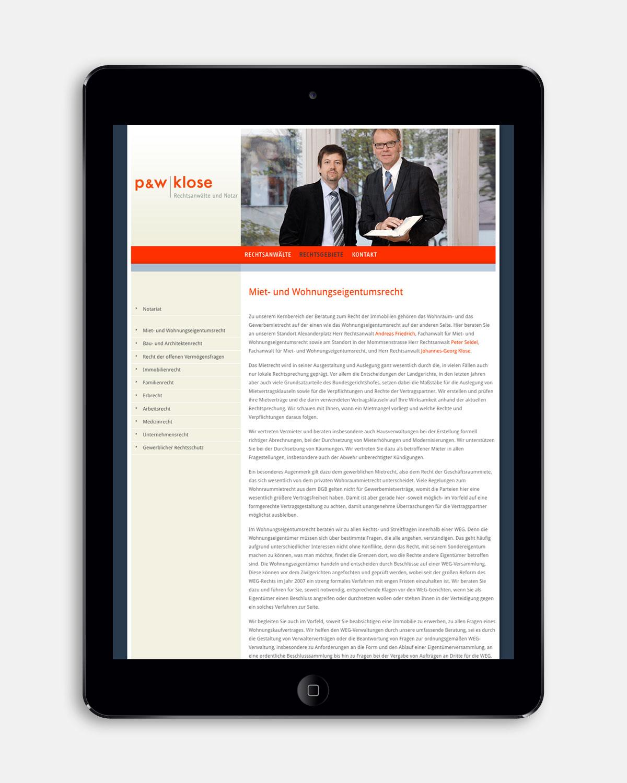 PW Klose Rechtsgebiete [iPad]