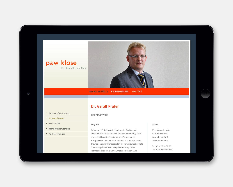 PW Klose Portraitseite [iPad]
