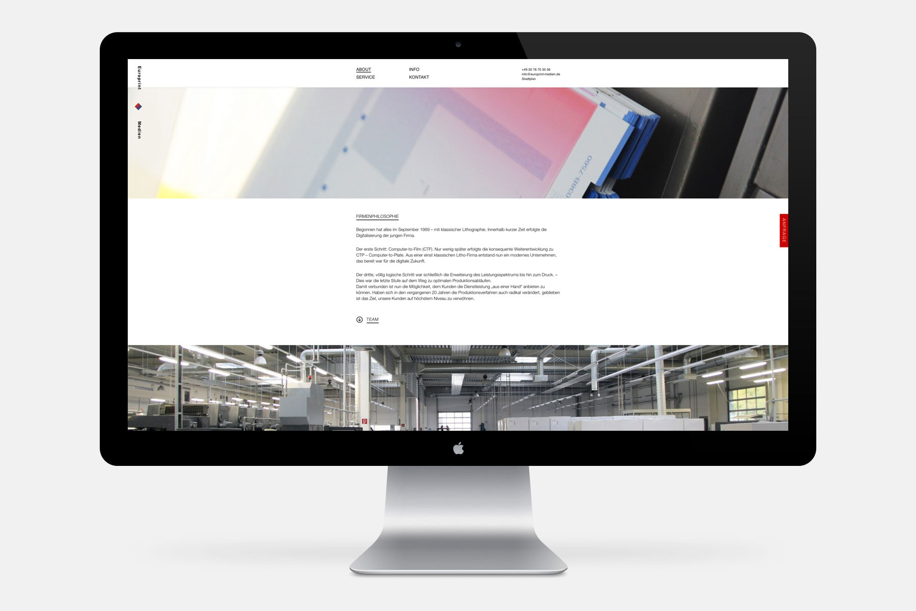Europrint Medien – Onepage [Big Screen]