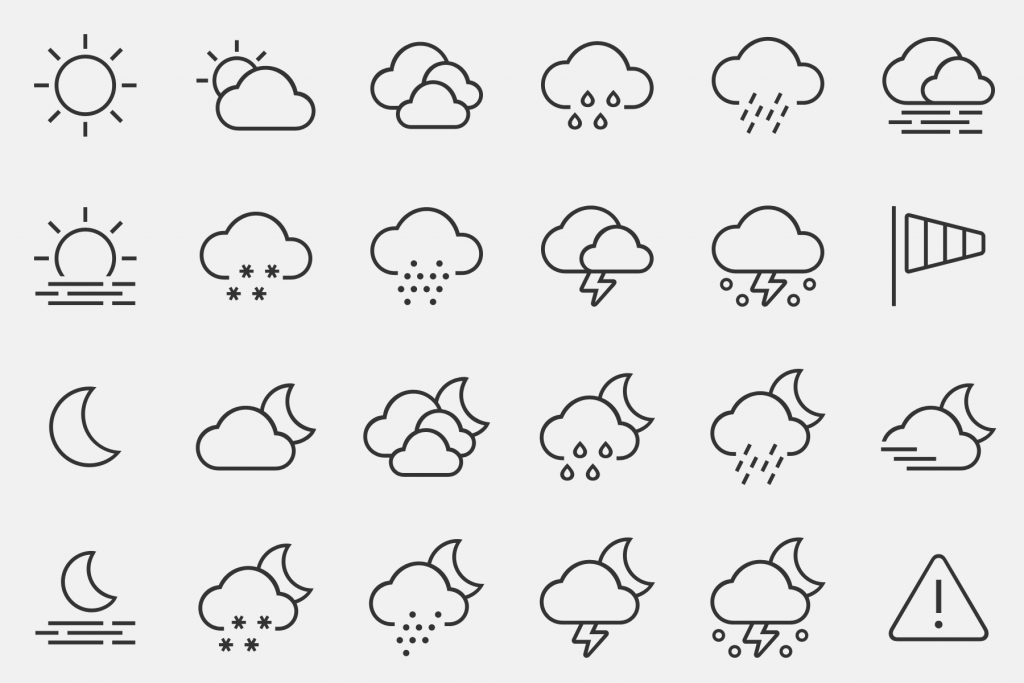 DW N24 - Icon Set Wetter